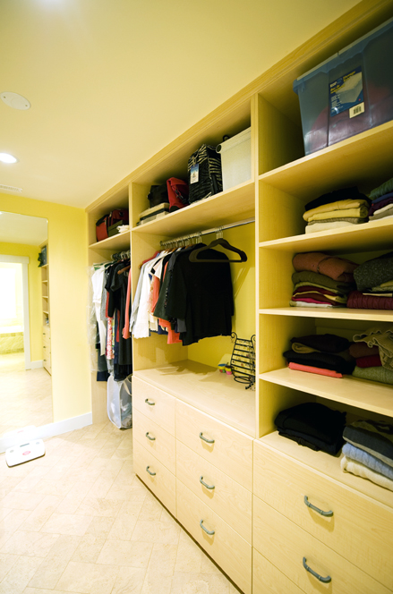 Hers Master Walk-in Closet