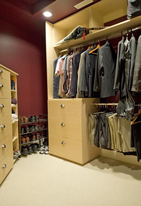 His Master Walk-in Closet